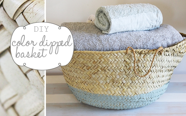 DIY fresh towel basket