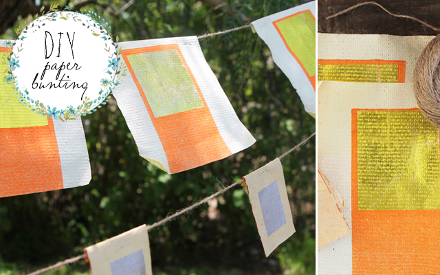 DIY no sew bunting – paper flags
