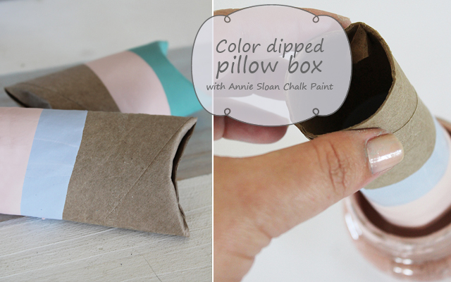 Colour dipped pillow box with Annie Sloan Chalk Paint®