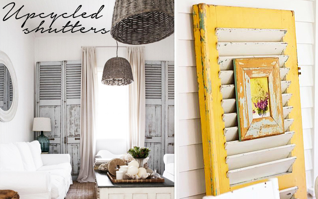 Upcycled shutter ideas