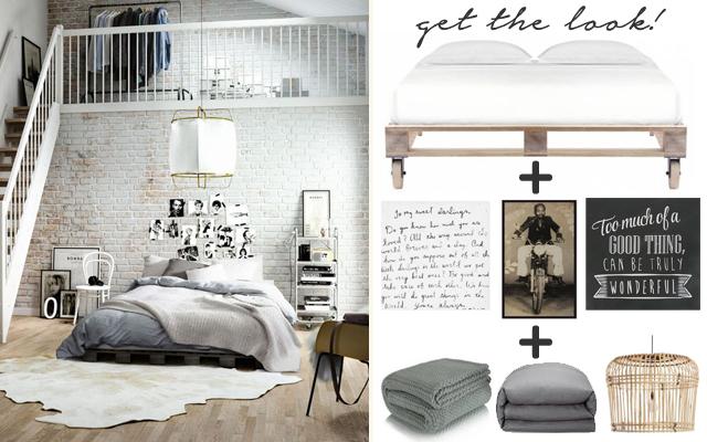 Get the look – loft style bedroom