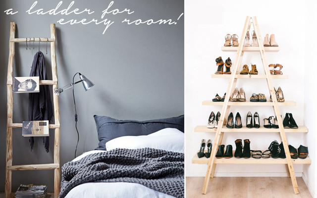 Upcycled ladder ideas for every room in your home