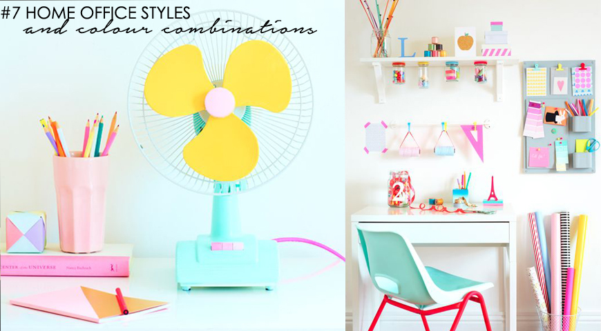 7 inspiring home office styles and colour palettes
