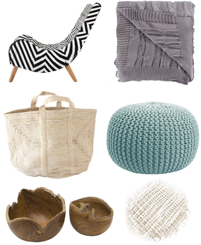 Local shopping for textured decor accessories