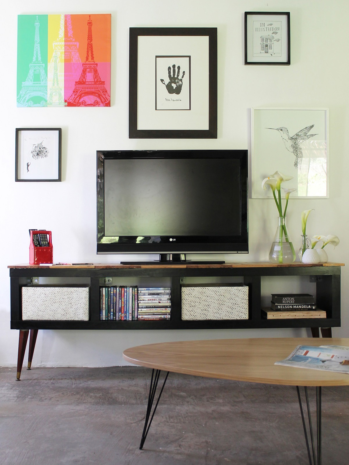 How to make your own DIY Midcentury Modern TV Stand