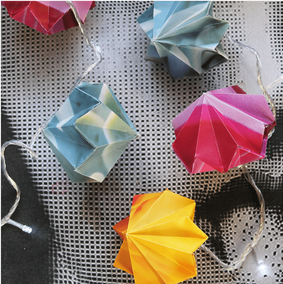Free Origami Fairylight Template