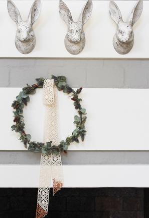 Watercolour Christmas Wreath DIY