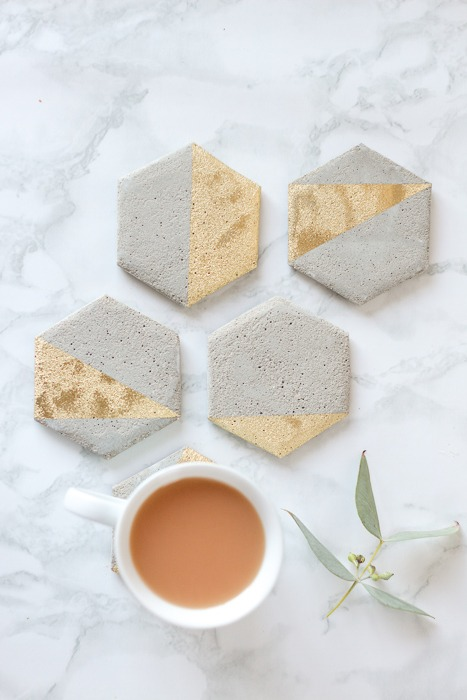 DIY Cement Coasters