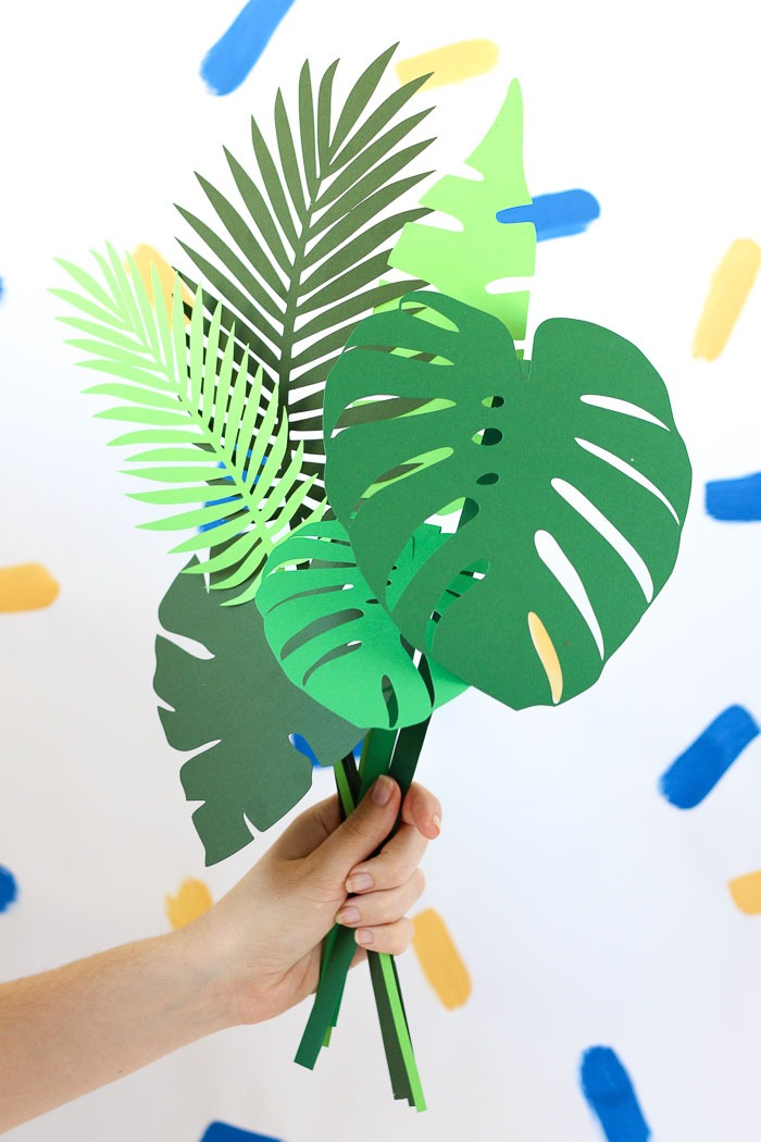 Fill a vase with botanical paper leaves that will never die. Win!