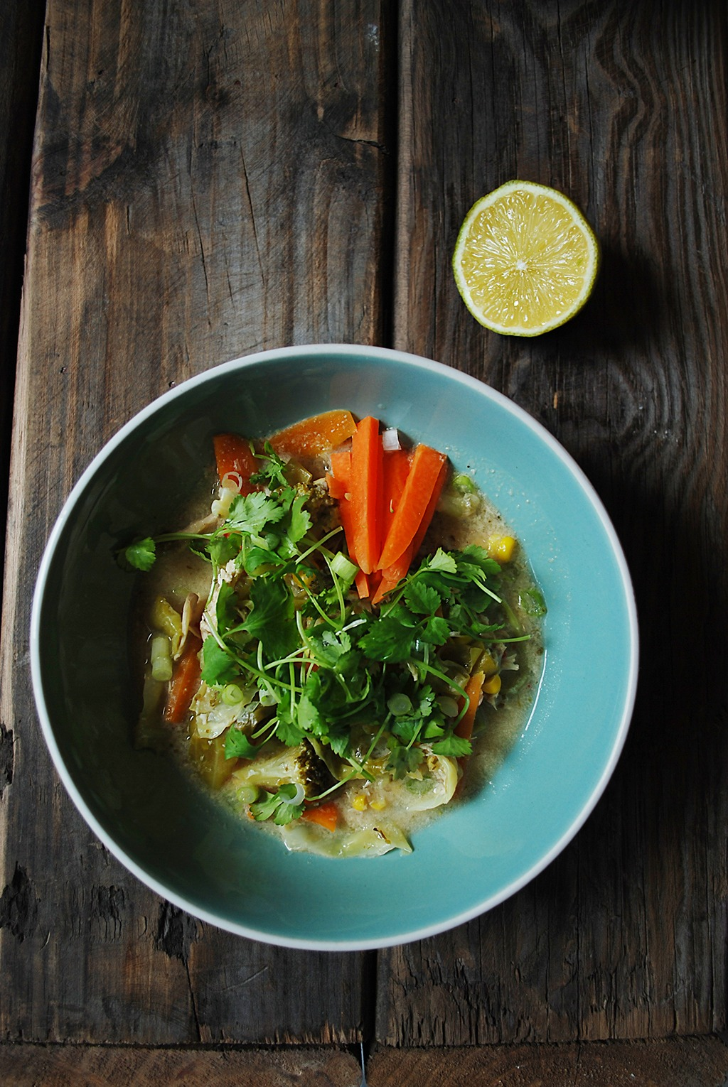 Cheeky Thai-inspired Chicken Corn Soup