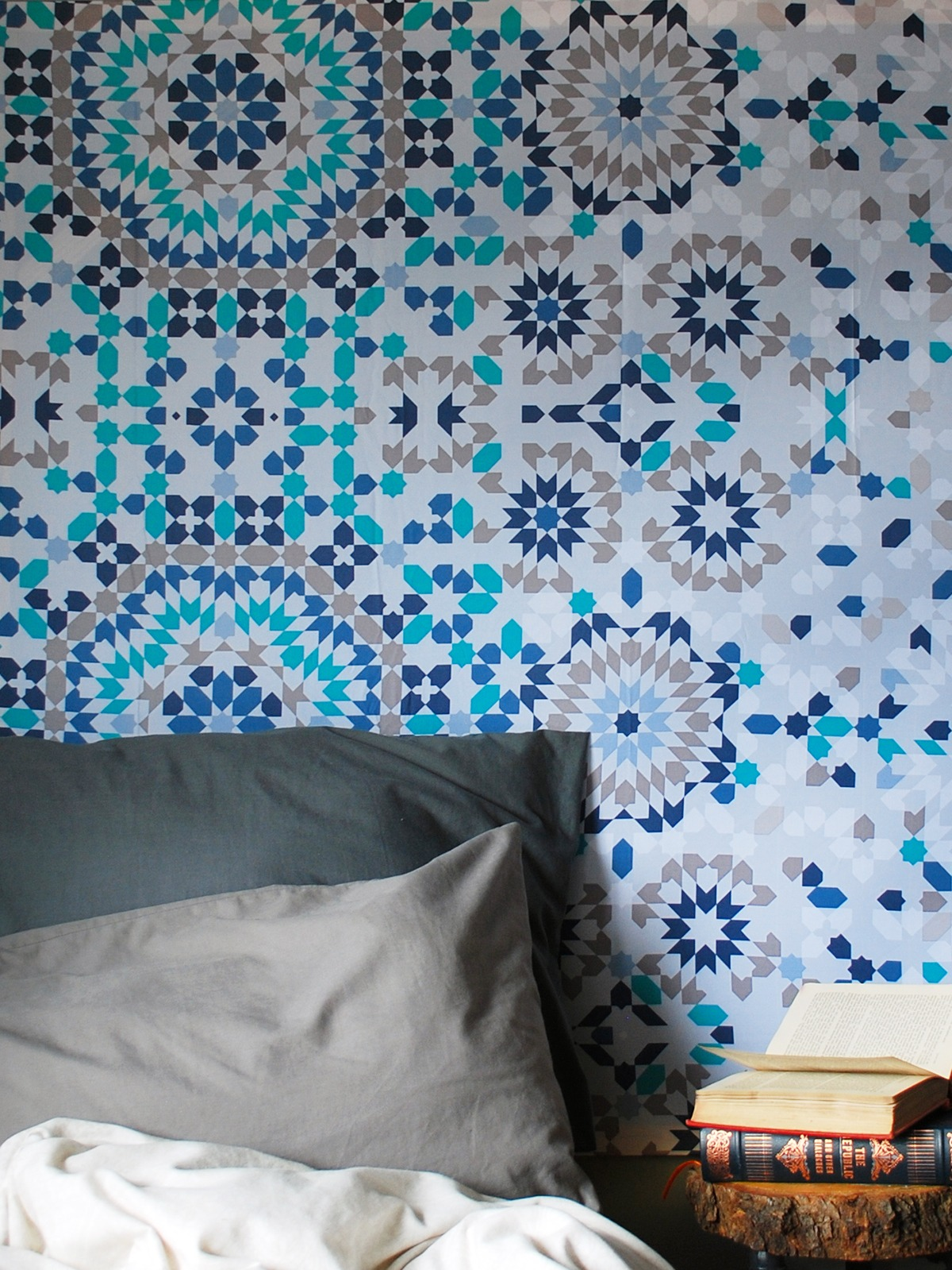 DIY Oversized Statment Artwork with a Shower Curtain