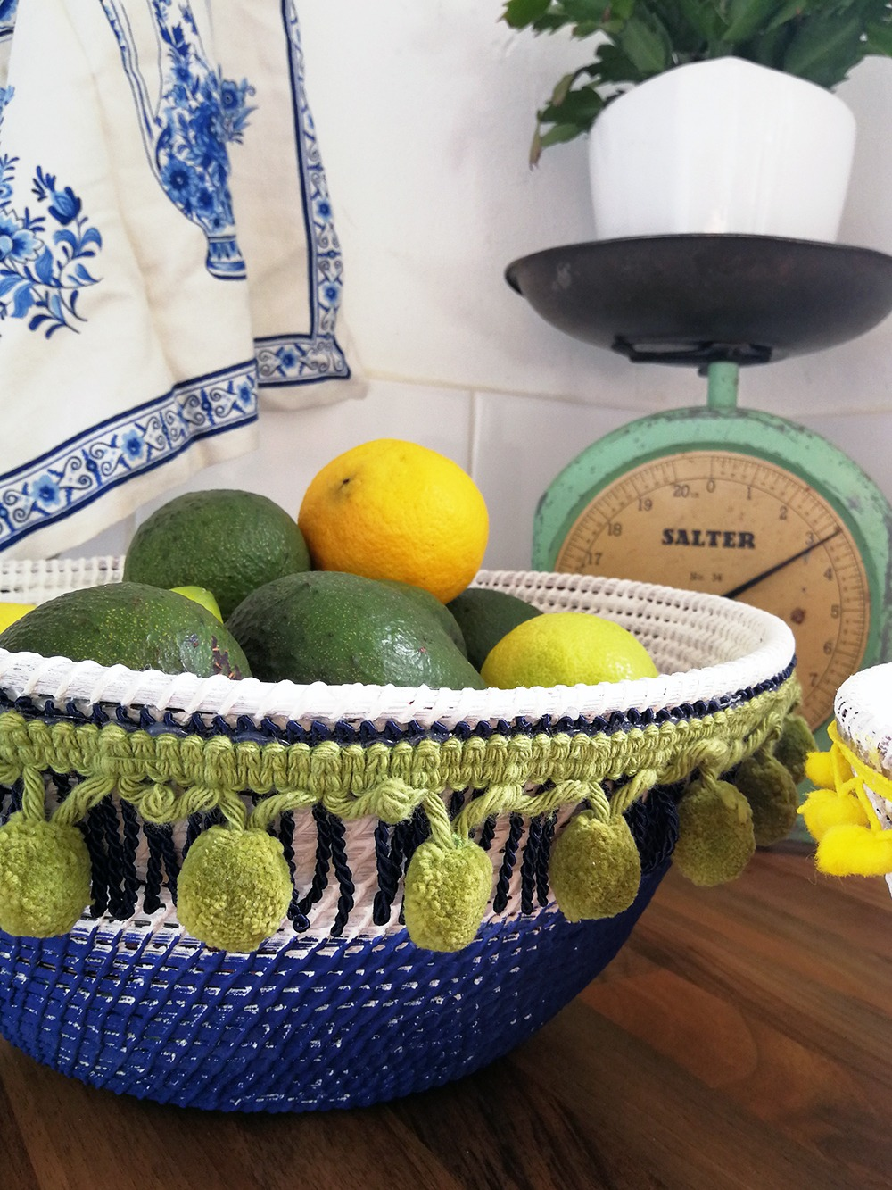 Go Bohemian with a DIY Fringed Basket