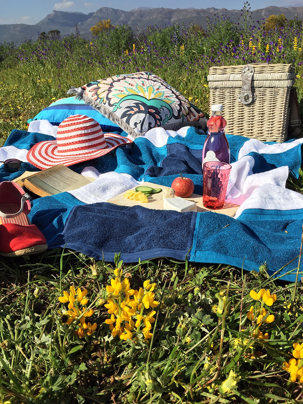 lightweight gingham check picnic blanket homemade
